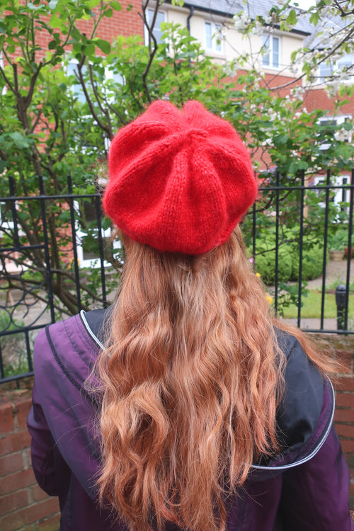 c539f1271d1 Rouge Hand Knitted Beret — Sunshine and Strawberries