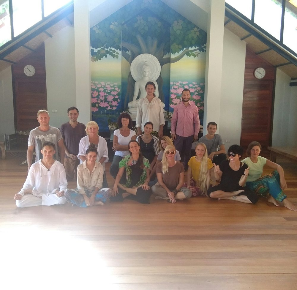 Yoga & Meditation Silent Retreat in Koh Samui - Irina was honored to be invited to teach in the well-known Buddhist Meditation center Dipabhāvan, in silent retreat, to a group of Russian students. More workshops and silent retreats are coming to Russia in June 2018, Workshops in Austria and a 'Yoga & Detox Reterat'in the Maldives happening November 2018.Check out more in the RETREAT section.Ask me more about upcoming retreats:irina@irinayogacoach.com