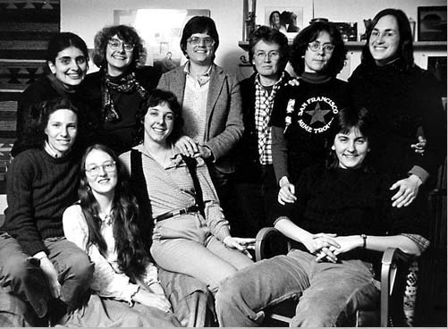 Our team in 1982  back row: Amy, Sandy, Madeline, Sarah, Tina, Barbara G. front row: Susan, Barbara W, Lynn, Karen. Not in photo: VaLera