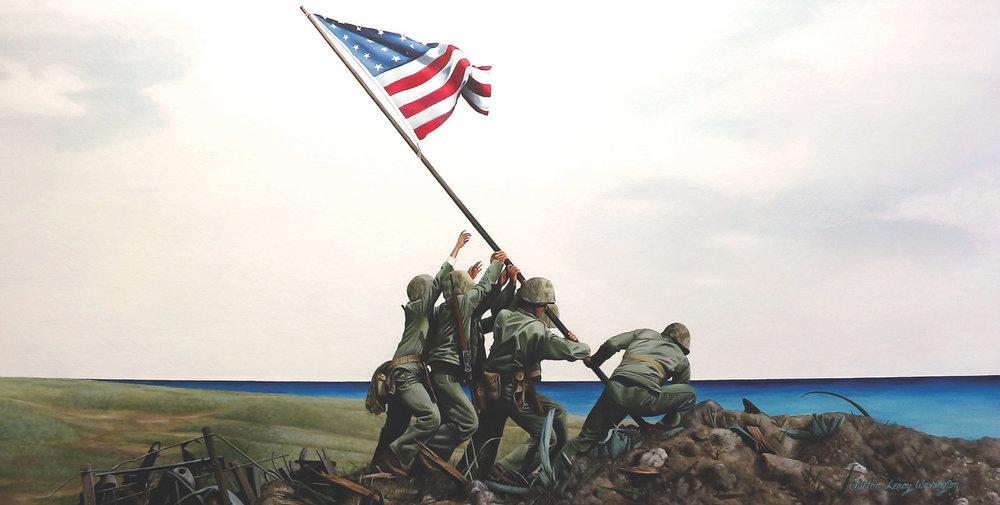 American Flag Raising, Iwo Jima