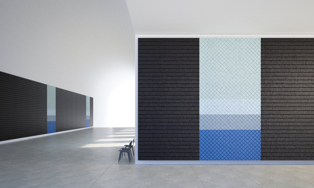 - BAUX Acoustic Panels. Available in 7 patterns; Quilted, Check, Stripes, Lines, Diagonal, Arch and Curve. All designed to be combined into infinity.