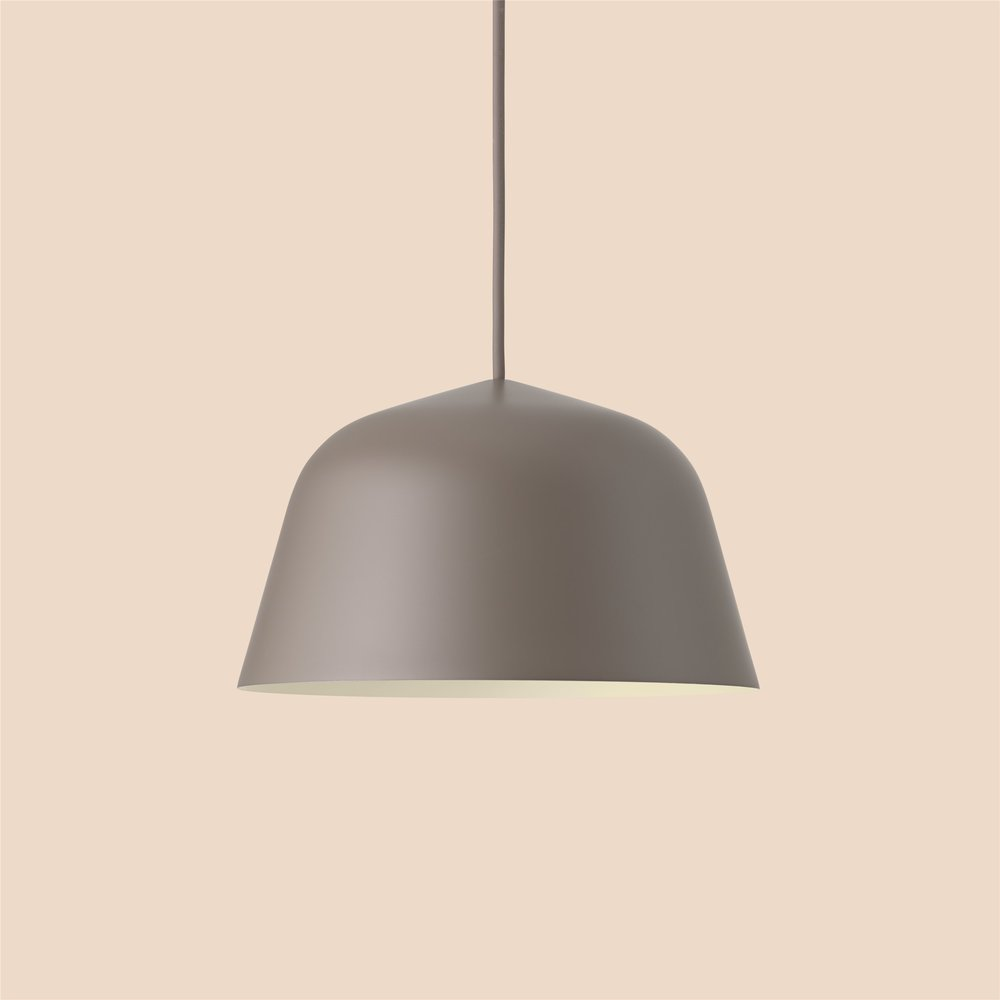 Ambit pendant lamp in taupe colour