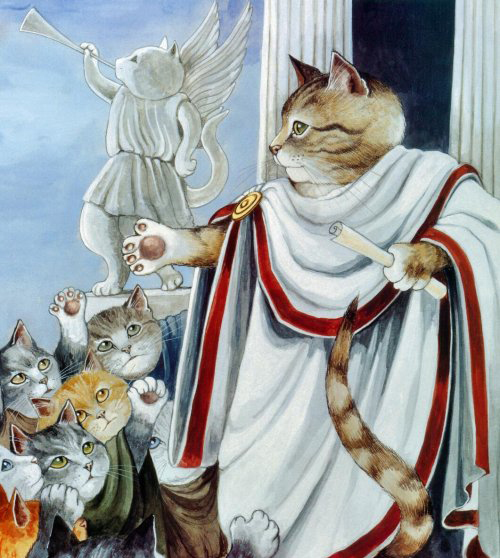 Even the mighty Julius Caesar was terrified of cats. -