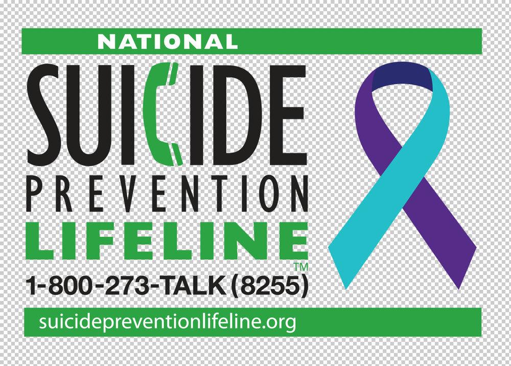 National Suicide Prevention Lifeline1-800-273-8255 -