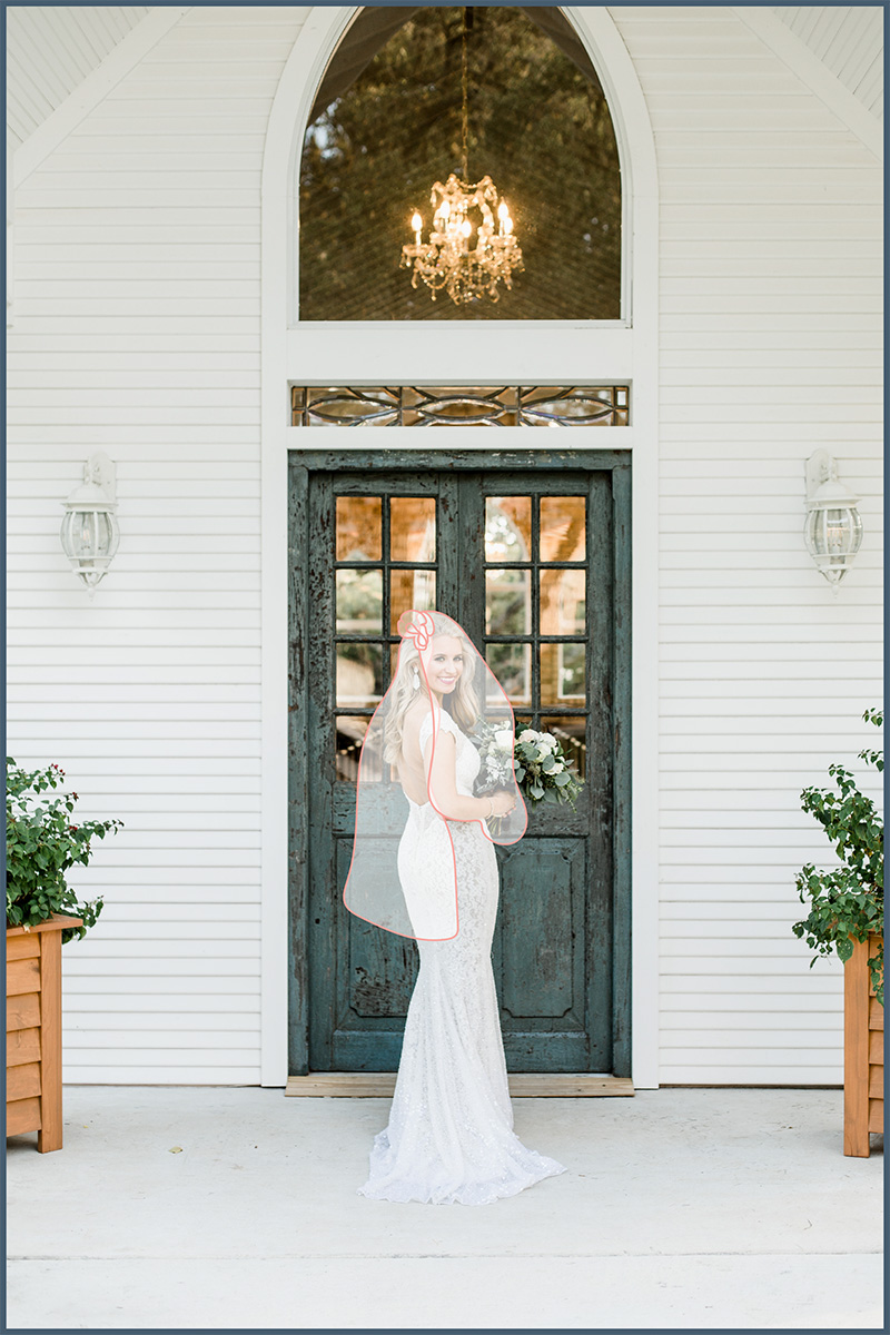 Veil with Blusher: Blusher, 30+ inches; veil length varies