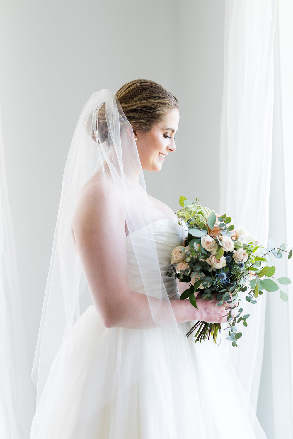 Simple Fingertip Length Veil | Petal & Veil