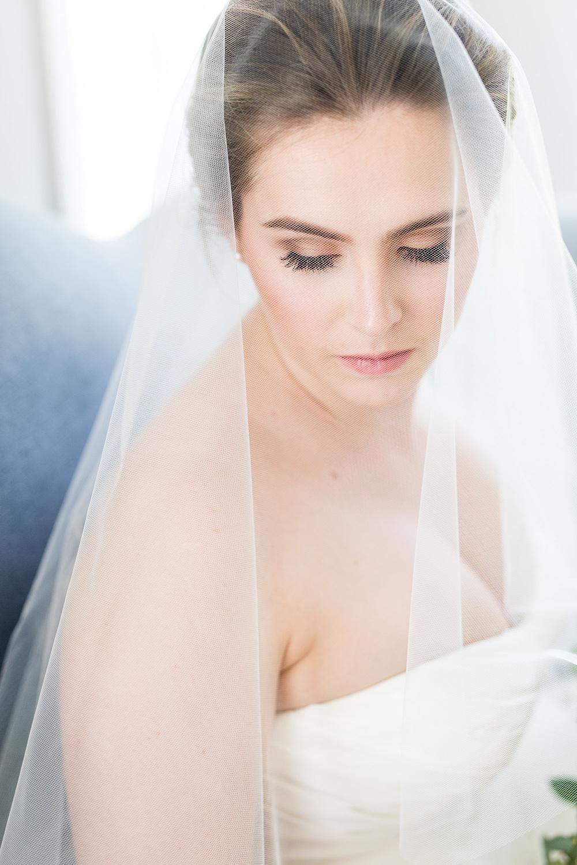 Double Layer Fingertip Veil and Blusher | Petal & Veil