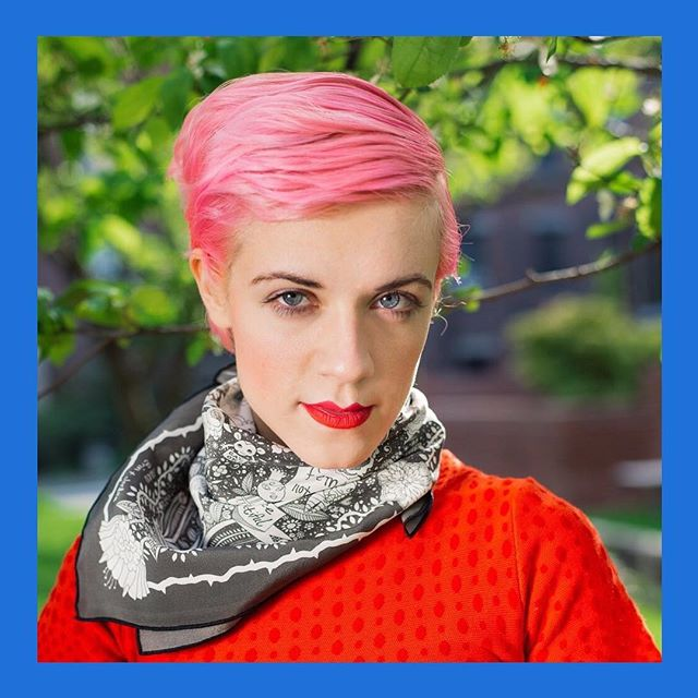 (1/3) Meet Jordan Piantedosi an interdisciplinary maximalist artist based in Boston.  She paints in oil, acrylic, and watercolor, she designs bizarre textiles for narrative-driven fashion textiles and she writes and illustrates comics for Perfect Stars, a website she began in high school and has maintained with sporadic determination for twelve years.  #galleryoh