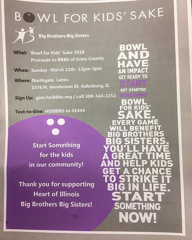 Big Brothers Big Sisters  Bowl for Kids Sake March 11th  #bethere