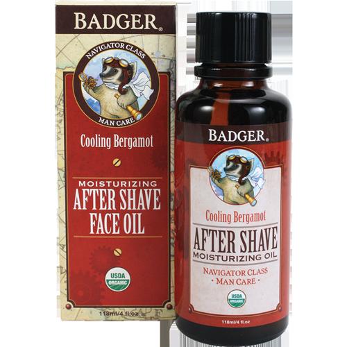 Badger  Moisturizing After Shave Face oil, 4 oz. $18.00