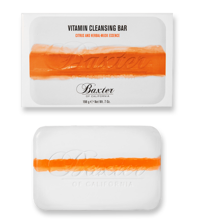 Baxter of California  Vitamin Cleansing Bar, Citrus & Herbal Musk, $17.00