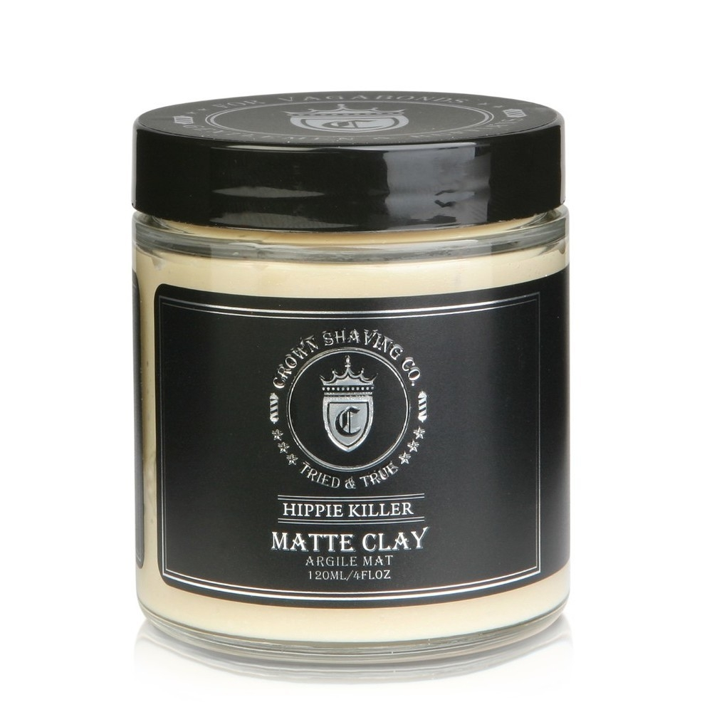 Crown Shaving Co. Hippie Killer Matte Clay, 4 oz., $22.00