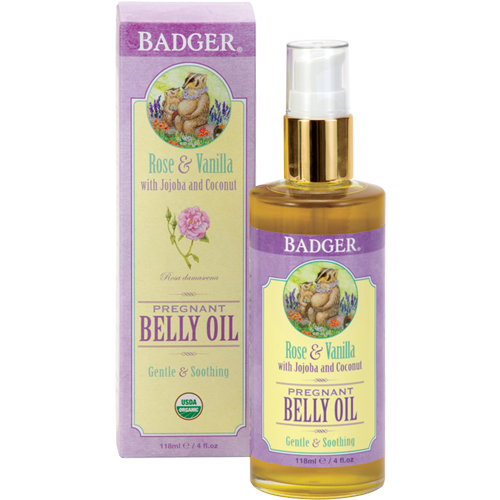 Badger  Pregnant Belly Oil with Rose & Vanilla, 4 oz. $20.00