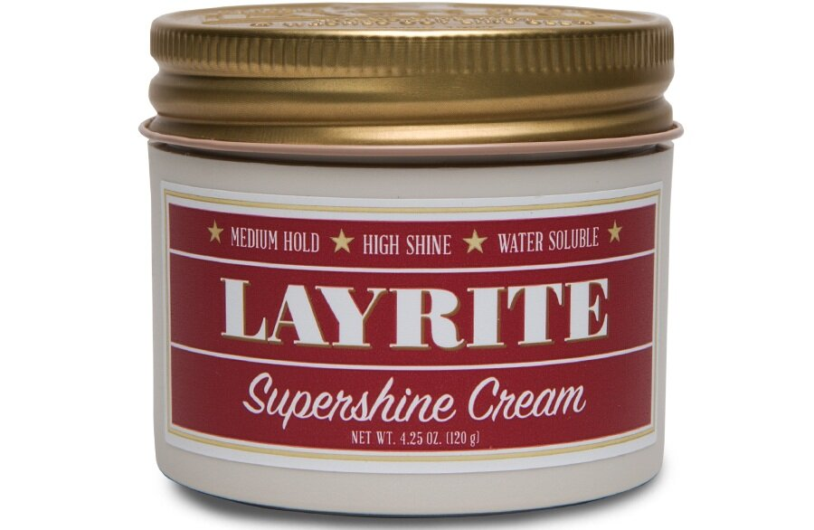 Layrite  Supershine Cream, 4.25 oz. $18.00