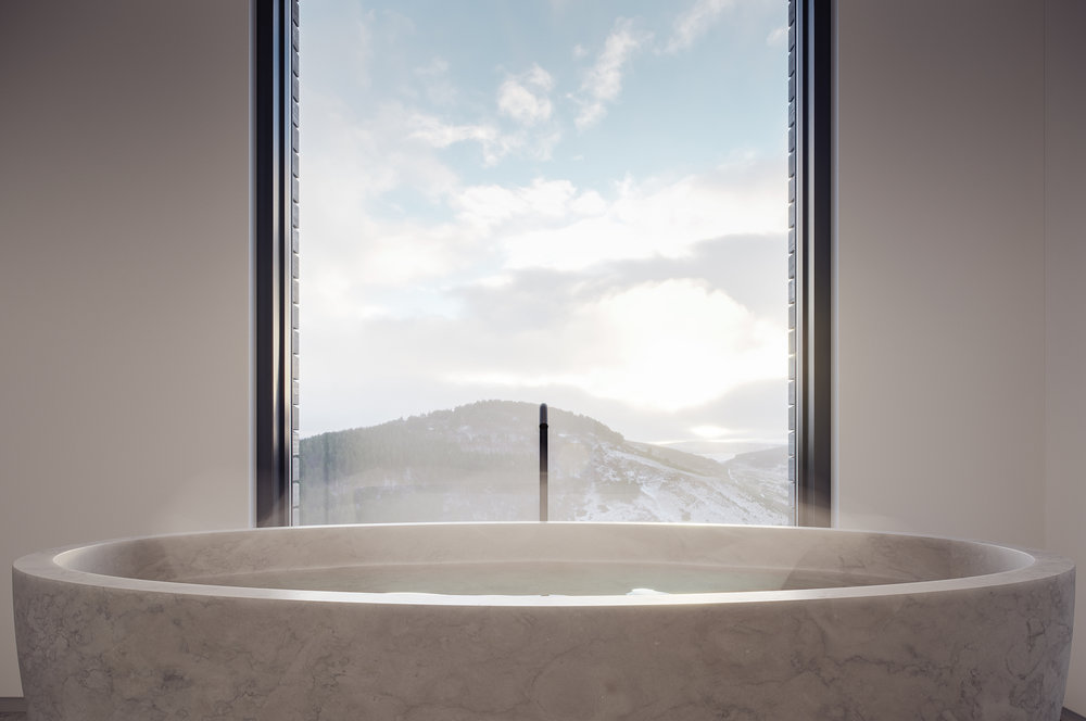 bath, luxury, cairngorms, views, scotland, highlands, landscape