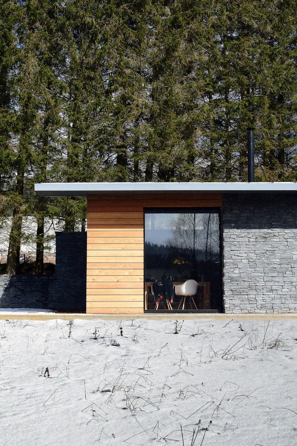 strathdon, house, timber, glass, award-winning, scotland, cairngorms, landscape, trees