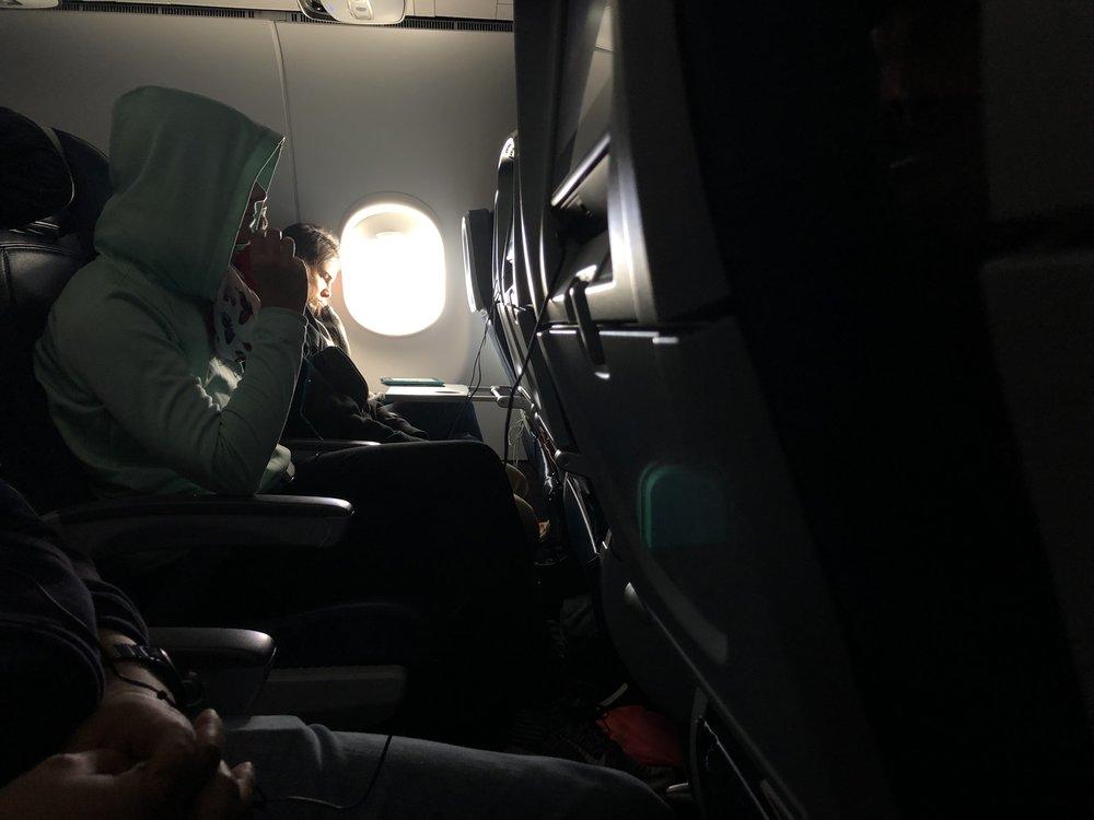 Window shade open for entire flight