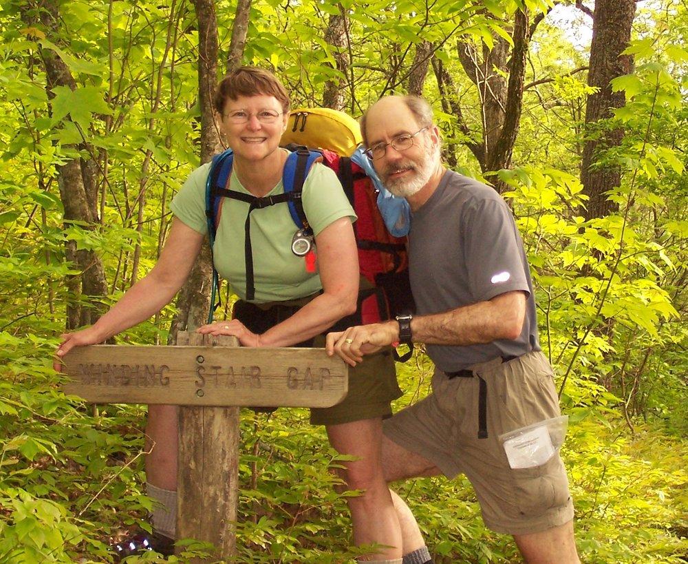 Bill and Sharon at Winding Stair Gap.jpg