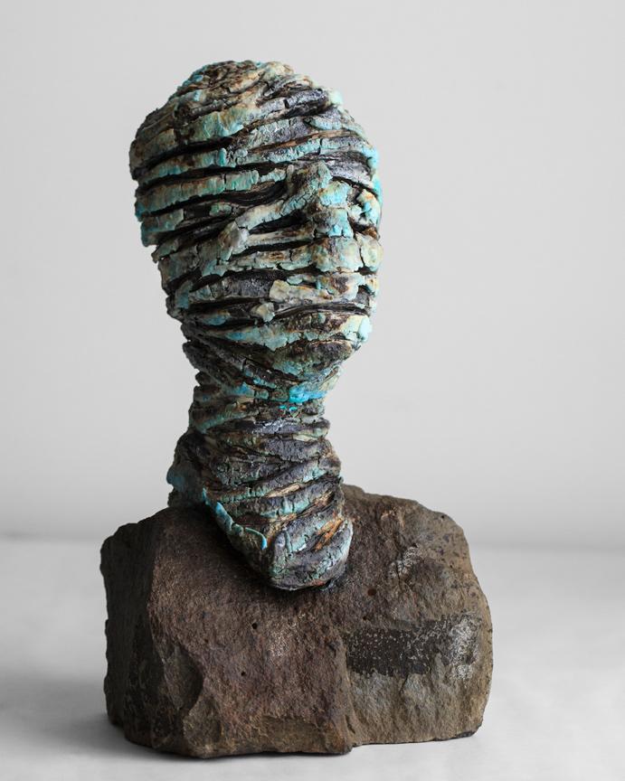 Blue Head on a Rock