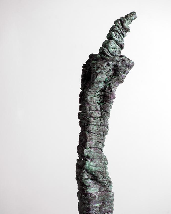 Tall Green Figure - Close Up