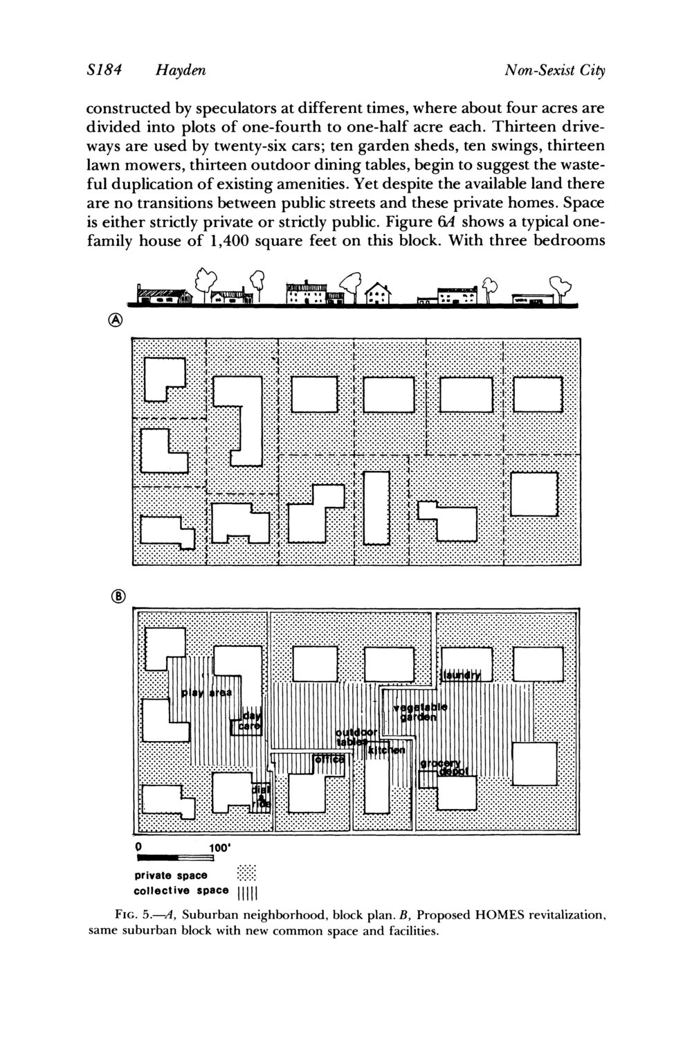 Images of Dolores Hayden's Non-Sexist City, reprinted in  Gender, Space and Architecture: An Interdisciplinary Introduction  (Routledge, 1999).