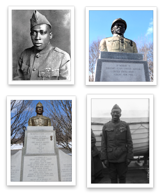 PHOTOS & LINKS - Download Photos Click here to download public domain photos of Sgt. Henry JohnsonInformation & Exhibits  https://www.army.mil/medalofhonor/johnson/ http://www.wmht.org/henryjohnson/https://www.smithsonianmag.com/history/remembering-henry-johnson-the-soldier-called-black-death-117386701/ https://blog.timesunion.com/518life/in-other-words-the-battle-of-henry-johnson/989/ https://www.governor.ny.gov/news/governor-cuomo-announces-medal-honor-henry-johnson-display-new-york-state-capitol
