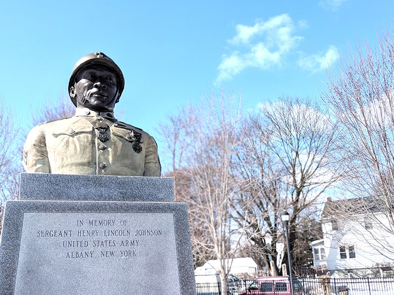 ALBANY RESIDENT SGT. HENRY JOHNSON WAS AN AFRICAN AMERICAN WWI HERO. PHOTO BY  DRAKE NIX