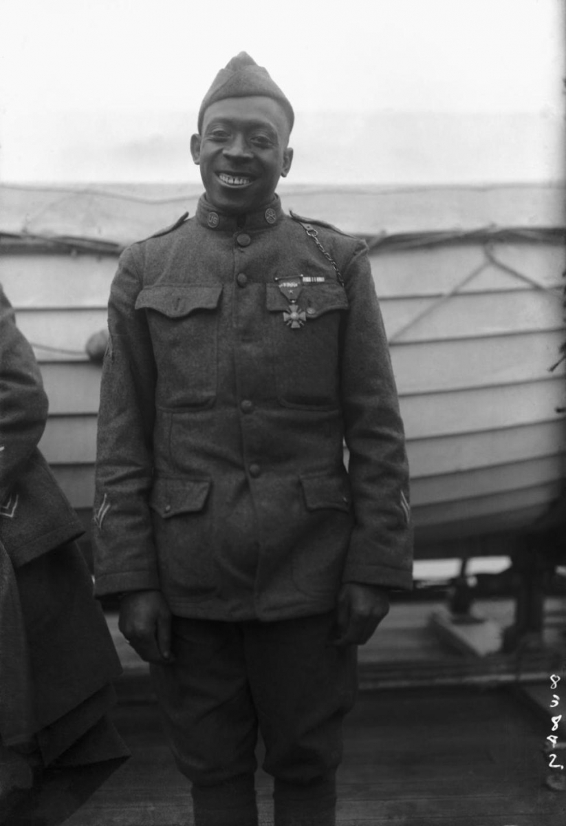 Sgt. Henry Johnson enlisted in the first African American unit in the U.S. Army in WW1