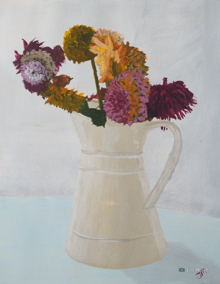 End of the Dahlias, Acrylic on Paper, 2010
