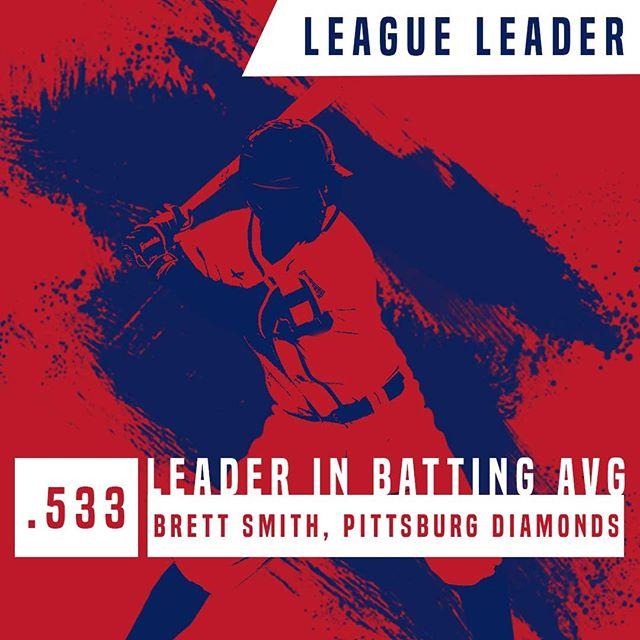 Wednesday's league leader spotlight is on Brett Smith who has a batting average of .533! #bestintheleague #battingavgwednesday #PAPBC