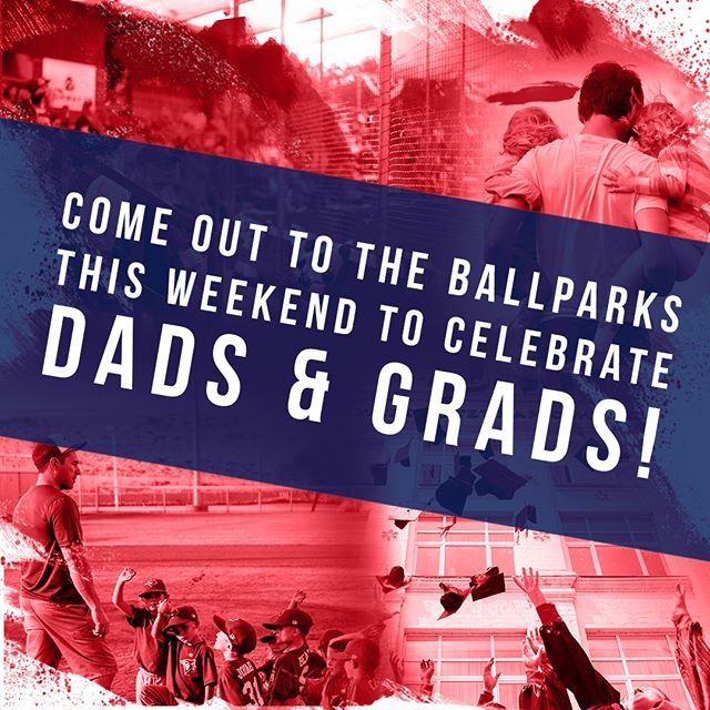 Join us at the ballparks this weekend to celebrate the Dads and Grads in your life! 👨👨👧⚾️👪#celebrategoodtimes #Dads&Grads #PAPBC