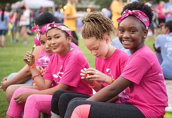 We inspire girls to be joyful, healthy and confident using a fun, experience-based curriculum which creatively integrates running.