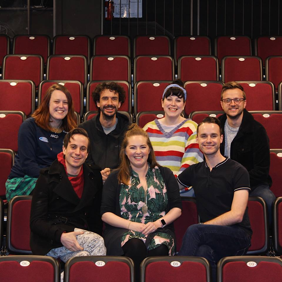 Snoopy cast: Allie Sutherland, Tony Burge, Candice Sweetman, Rourke Puksand, Daniel Baker, Ashleigh Psaila and Nic Russ.
