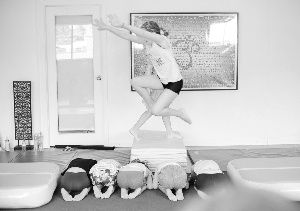 Progressions one class at a time. No giant leaps ahead! - Experience matters; 19 years and counting teaching gymnastics, trampolining, tumbling and acrobatics and 27 years training. Ilyan Keay is using her expertise to deliver creative programs from Pre School Acro/ In School Recreational through to Elite Dance Acro.Find AcroPals Classes at our Marrickville Studios, at after school care facilities, at one of our prestigious dance schools, one on one, at holiday workshops or via our online courses. (Coming Soon!)I believe everyone deserves the opportunity to see what sort of Acrobat they can be!Learn more ➝