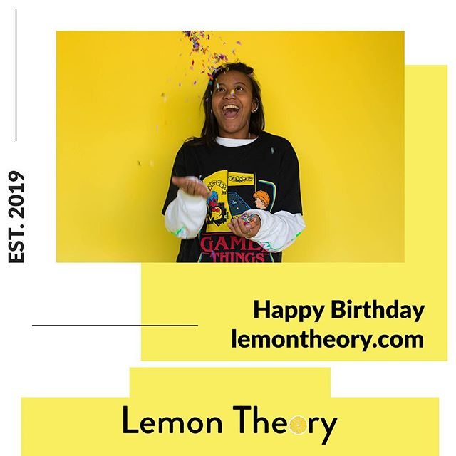 Happy Birthday Lemon Theory!!! We're thrilled for the adventures ahead. Stay tuned throughout the day for birthday celebration! 🍋💛 . . . .