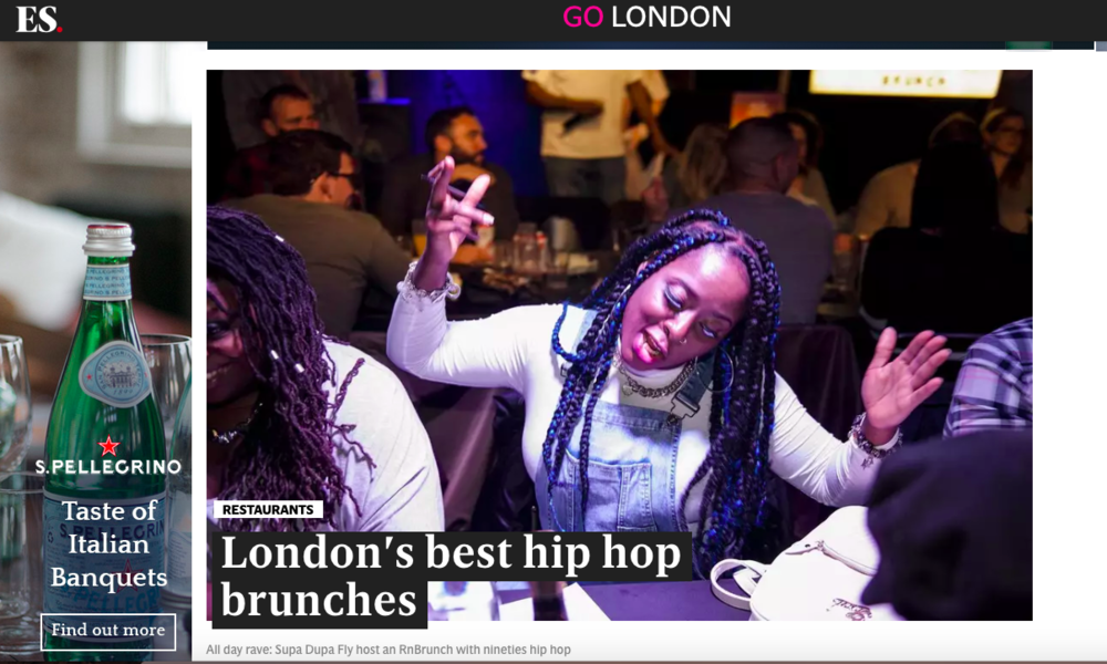 - London's best hiphop brunches - the evening standard