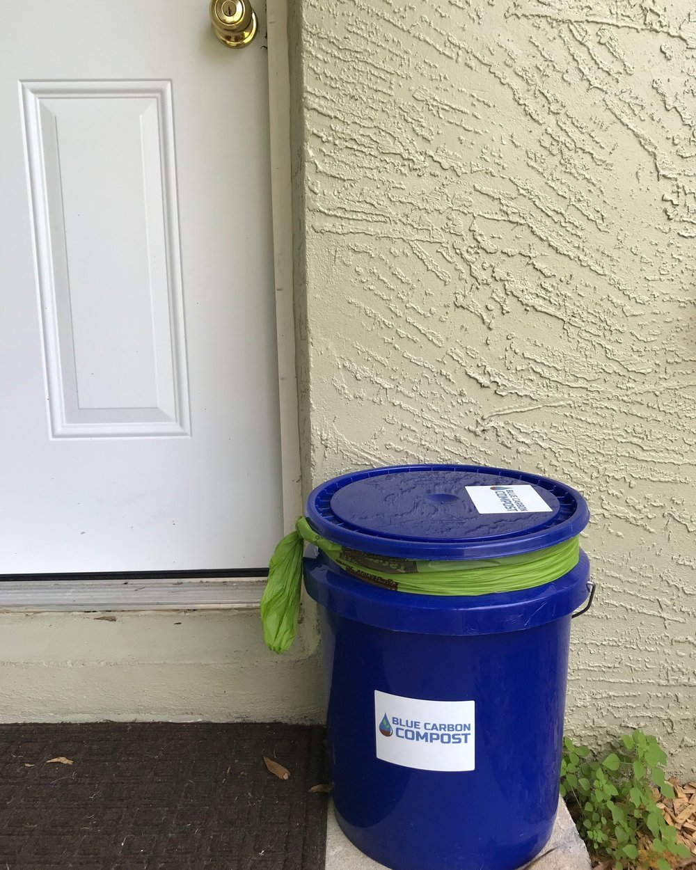 Leave your bucket full of goodness outside for pick-up on and for us to drop you off a clean one!