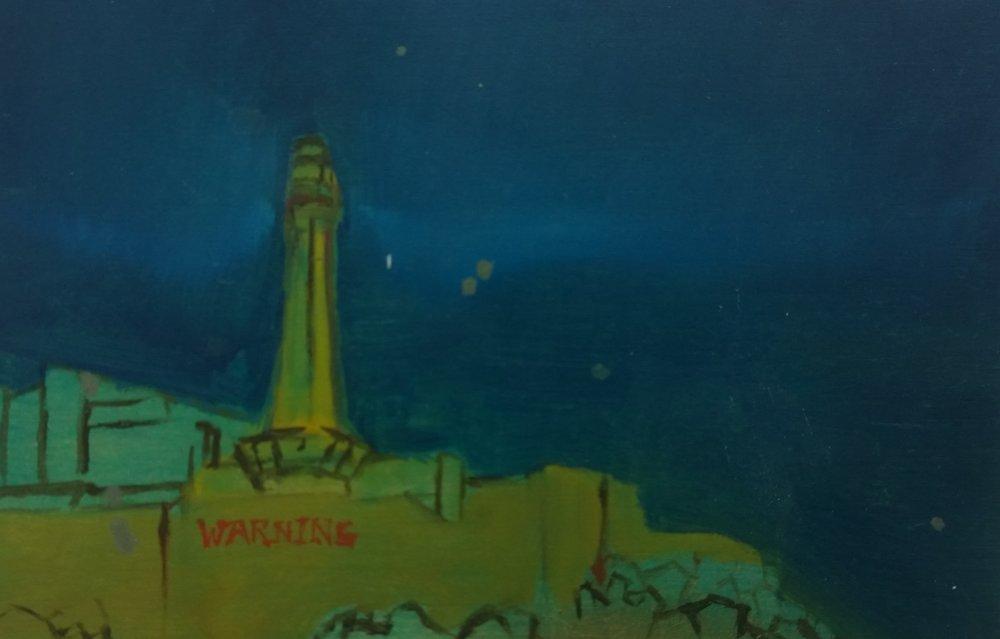 Sea Fort at night