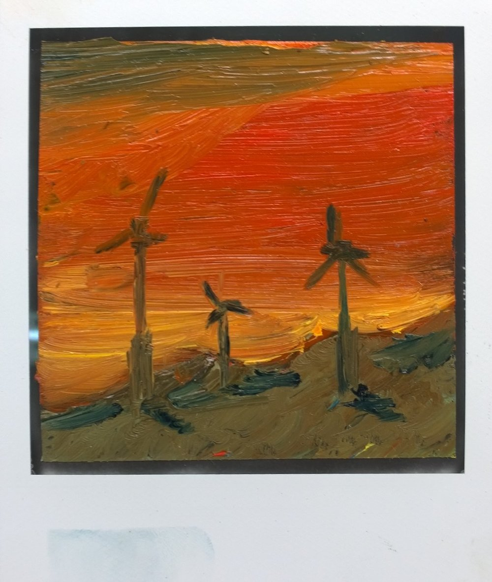 Wind Farm in Sunset