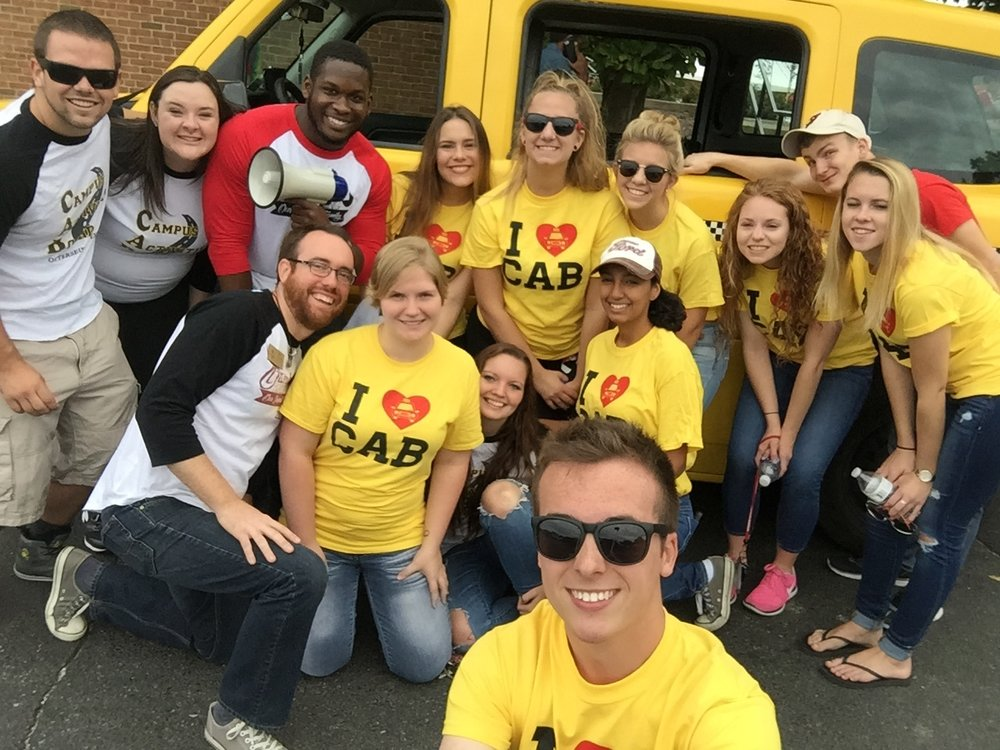 CAB members prepare for Otterbein's annual homecoming parade