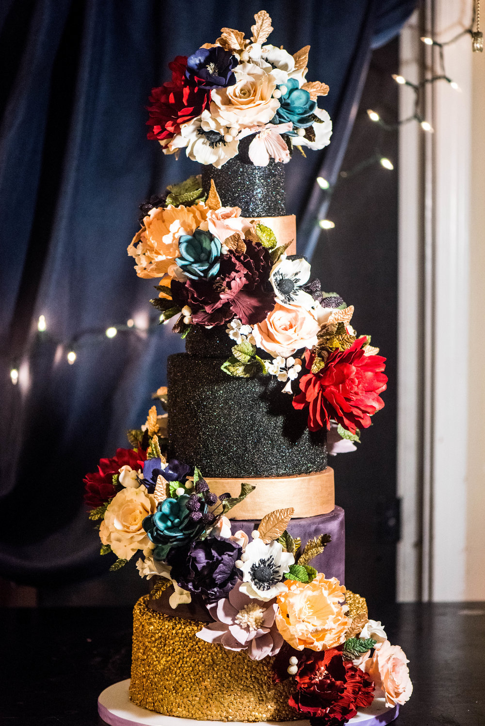 A Dazzling Design - Six Tiers of Sparkling Elegance