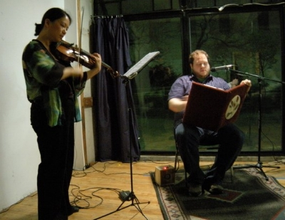 The Brecht Forum, April 2011      Book of Roses and Memory   (2004) by Francis White (YouTube)   Liuh-wen Ting,   viola  ; Ryan MacGavin,   narrator