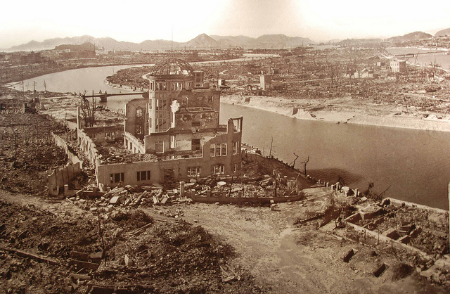 """"""" Hiroshima after the Bomb """" by  Maarten Heerlien  is a Creative Commons image, licensed under  CC BY-SA 2.0"""