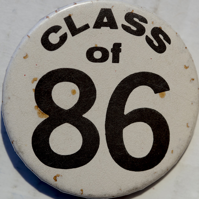 """ Class of 86 "" by  Mark Morgan  is a Creative Commons image, licensed under  CC BY 2.0"
