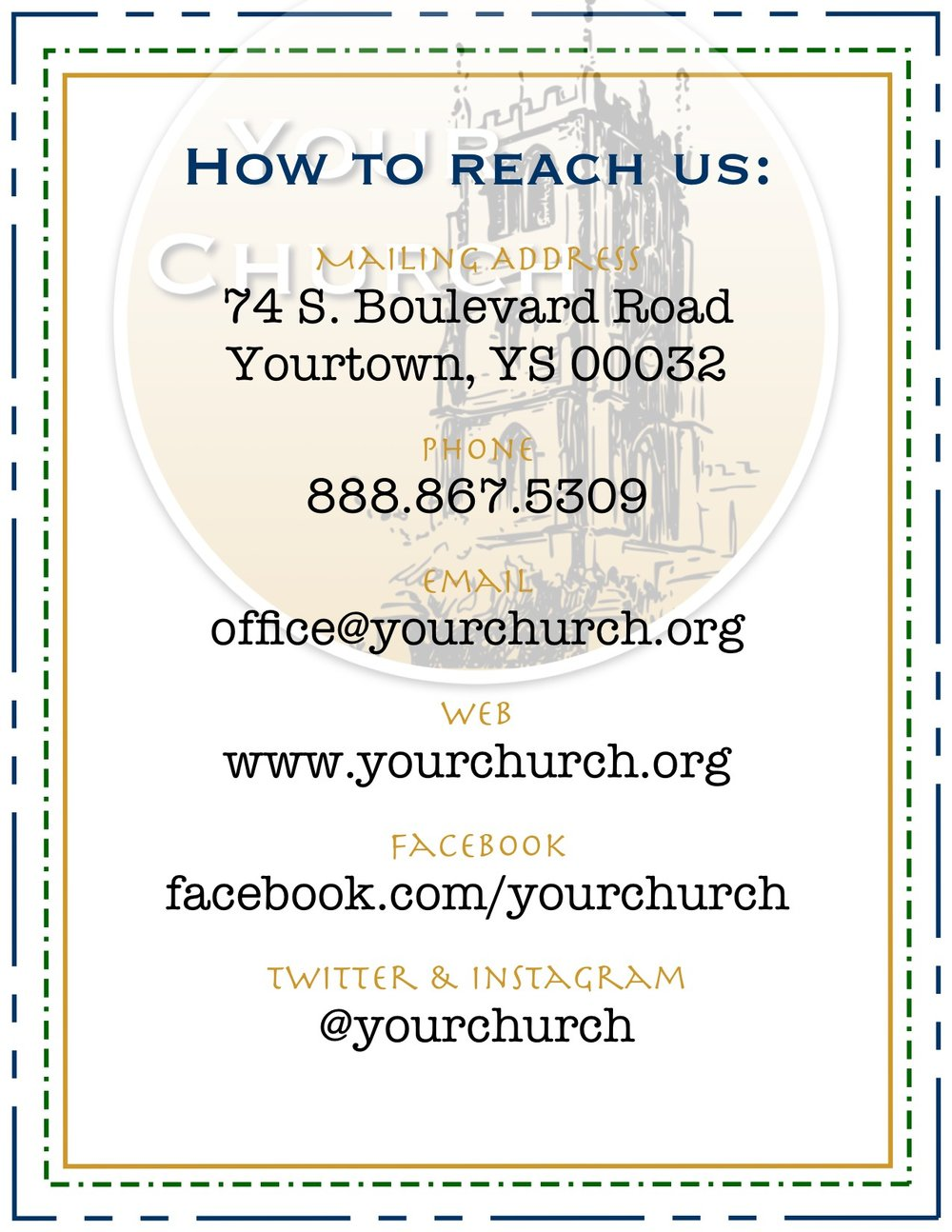 YourChurch Contact Information
