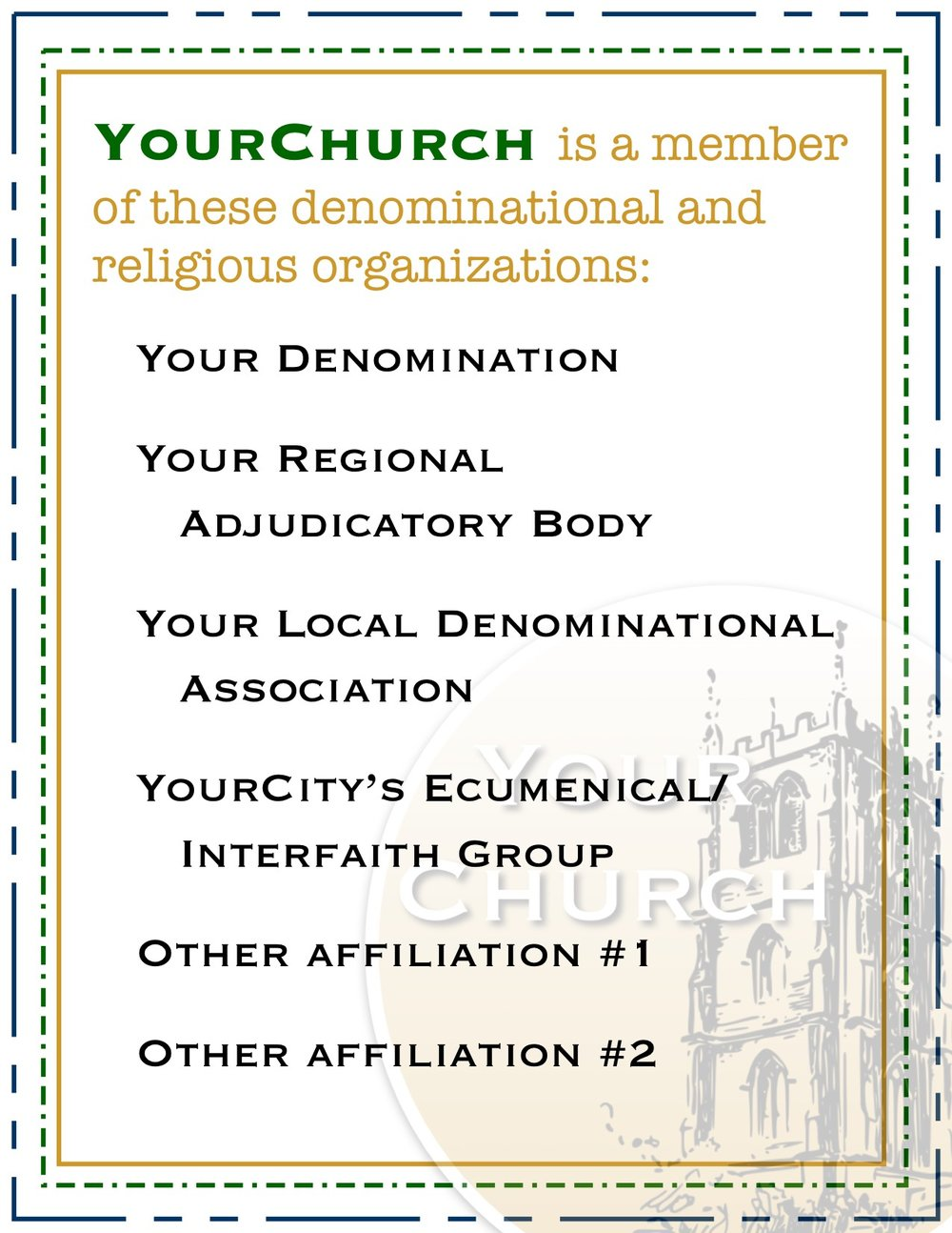 YourChurch Affiliations