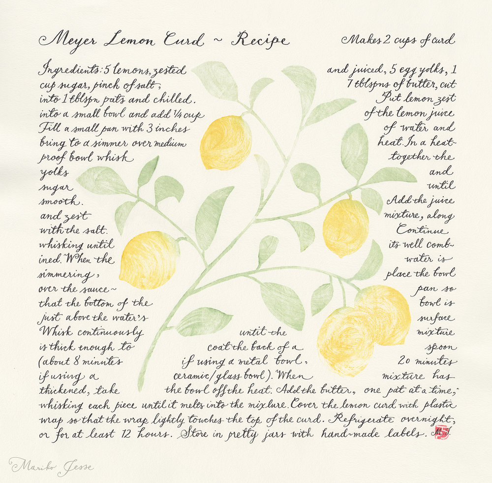 Meyer Lemon Curd Recipe