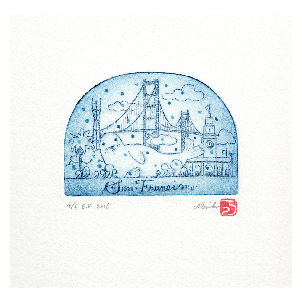 San Francisco snowdome