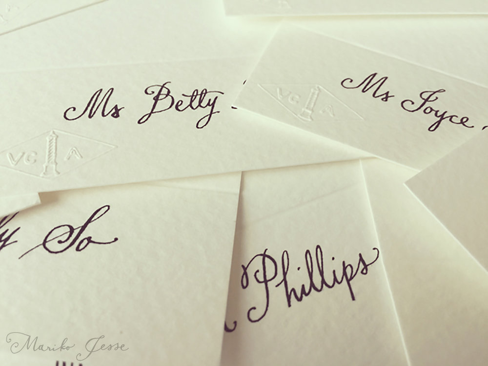 place-setting lettering