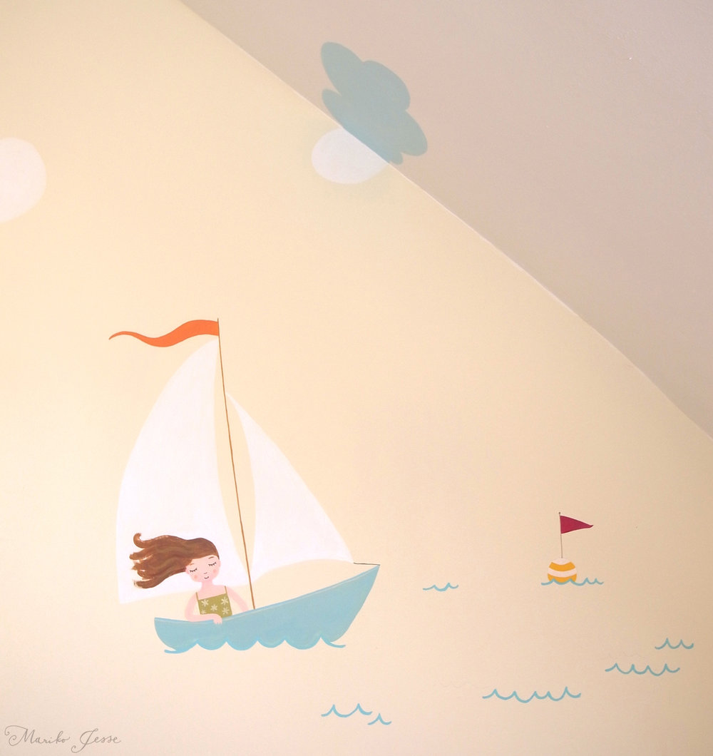 childs bedroom mural